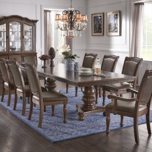 Carreiro Double Pedestal 9 Piece Extendable Dining Set DarHome Co