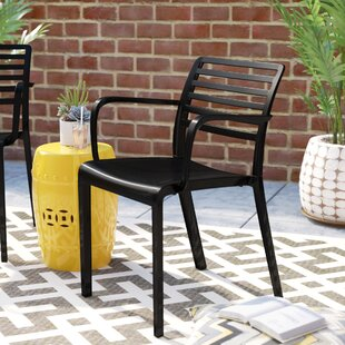 Carpentier Stacking Patio Dining Chair (Set Of 2) by Mercury Row Best Choices