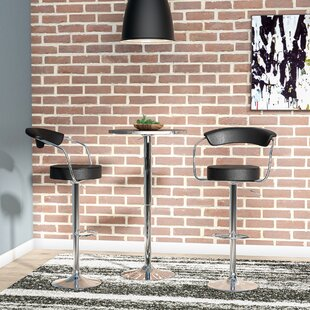 Stepney Adjustable Height Swivel Bar Stool (Set of 2) by Brayden Studio