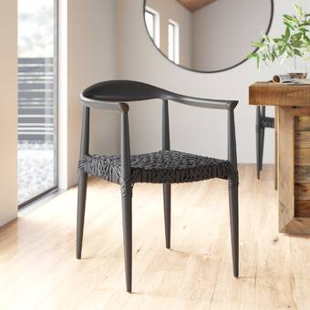 Admirable Jager Solid Wood Dining Chair Allmodern Bralicious Painted Fabric Chair Ideas Braliciousco