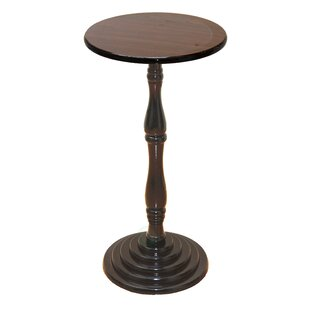 Charlton Home Corsica Round Pedestal End Table