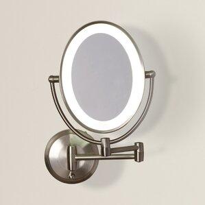 Wall Mounted Magnifying Mirror makeup & shaving mirrors you'll love | wayfair