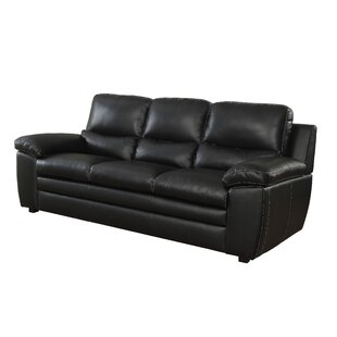 Inexpensive Dinges Leather Sofa by Red Barrel Studio Reviews (2019) & Buyer's Guide