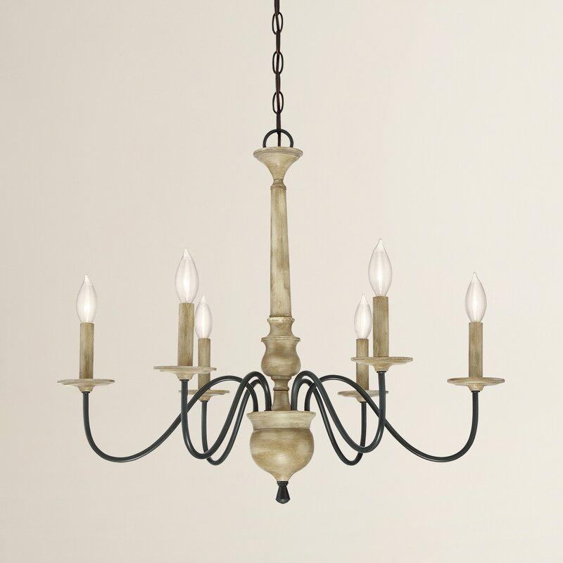 Edson 6 light candle style chandelier reviews birch lane edson 6 light candle style chandelier mozeypictures Choice Image
