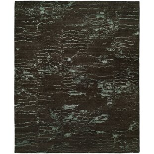 Harmen Hand-Knotted Wool Brown Area Rug by17 Stories