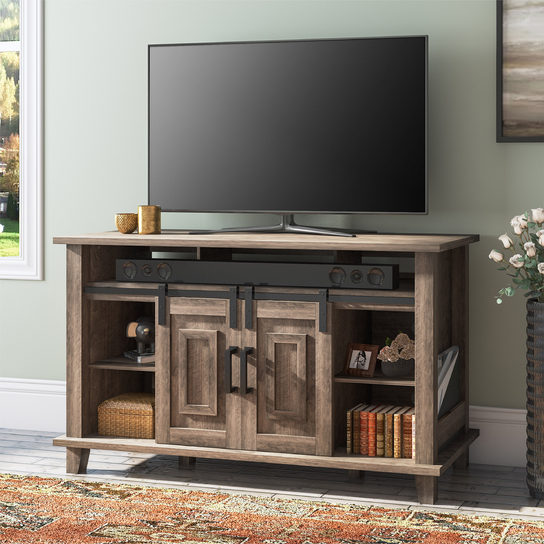 August Grove Tv Stand For Tvs Up To 60 Wayfair