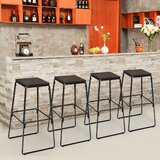 Malthe Solid Wood Bar Stool by 17 Stories