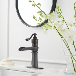 Vibrantbath Waterfall Commercial Single Hole Oil Rubbed Bronze Bathroom Faucet With Drain Embly