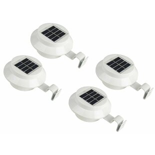Solar Powered 4 Light LED Pathway Light (Set of 4)
