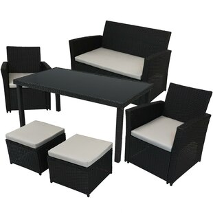 Margarida 6 Piece Dining Set with Cushions