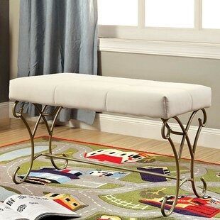 Red Barrel Studio Alysia Metal Upholstered Bench