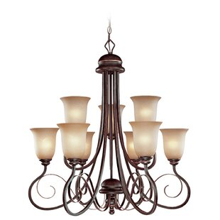Fleur De Lis Living Melba 10-Light Shaded Chandelier