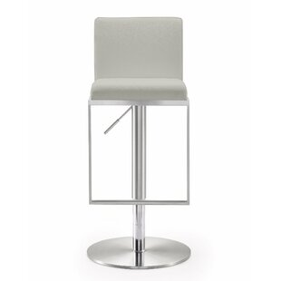 Wade Logan Blagg Adjustable Height Swivel Bar Stool
