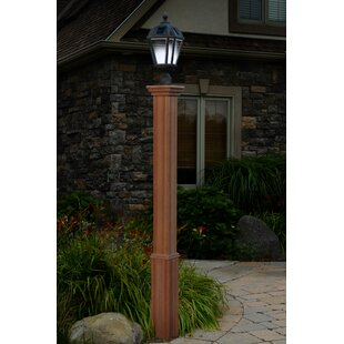Solar powered post lights youll love wayfair trinity 74 post mozeypictures Images