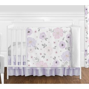 d6230e4455753 Ensemble de literie pour lit de bébé 4 pièces aquarelle floral