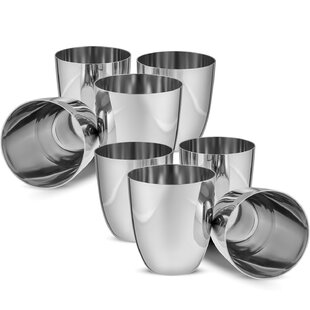 5acdfc976ca Eastham Unbreakable 12 oz. Stainless Steel Drinking Glass (Set of 8)