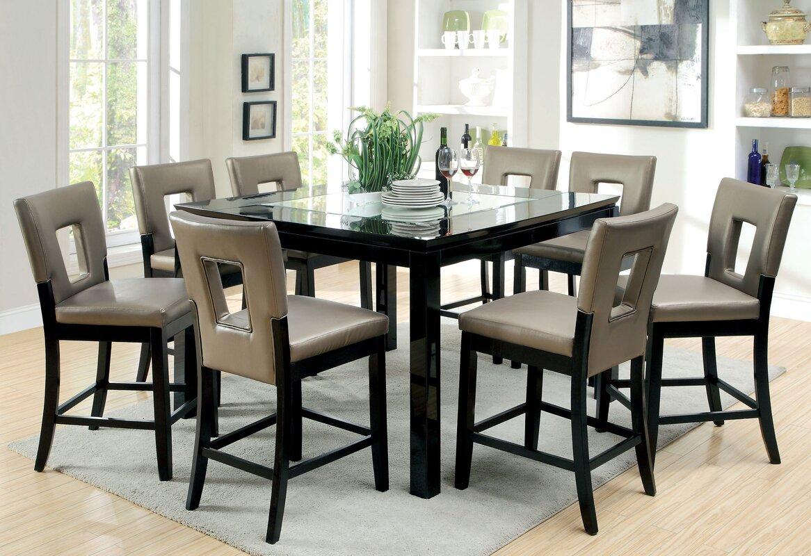 Vanderbilte 9 Piece Counter Height Dining Set