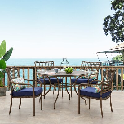 Ritchie 5 Piece Dining Set With Cushions by Bayou Breeze Design