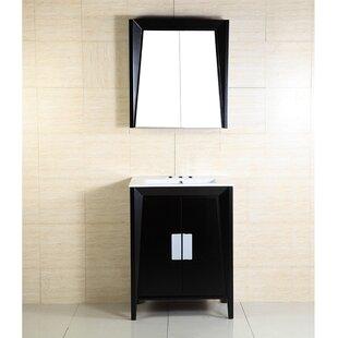 24 Single Sink Wood Vanity Set by Bellaterra Home