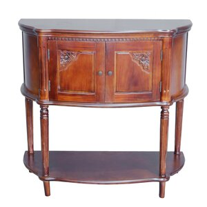 Georgina Hand Carved 2-Tier Console Table by One Allium Way