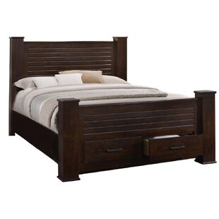 Osmin Solid Wood Storage Platform Bed