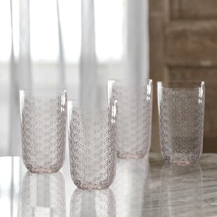 Bistro Key Glass Highball Glass (Set of 4)