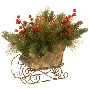 decorative sleigh centerpiece