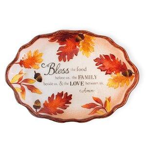Davis Acorn and Leaf Oval Platter