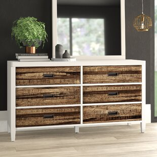 Bendigo 6 Drawer Double Dresser by Mercury Row