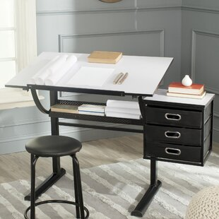 Harvard Drafting Table And Chair Set by Safavieh Top Reviews