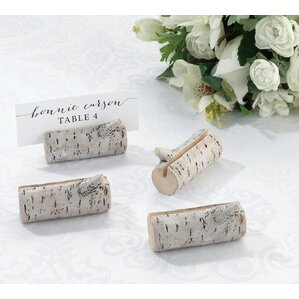 birch place card holder set of 4