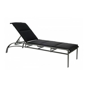 Metropolis Reclining Stacking Chaise Lounge by Woodard