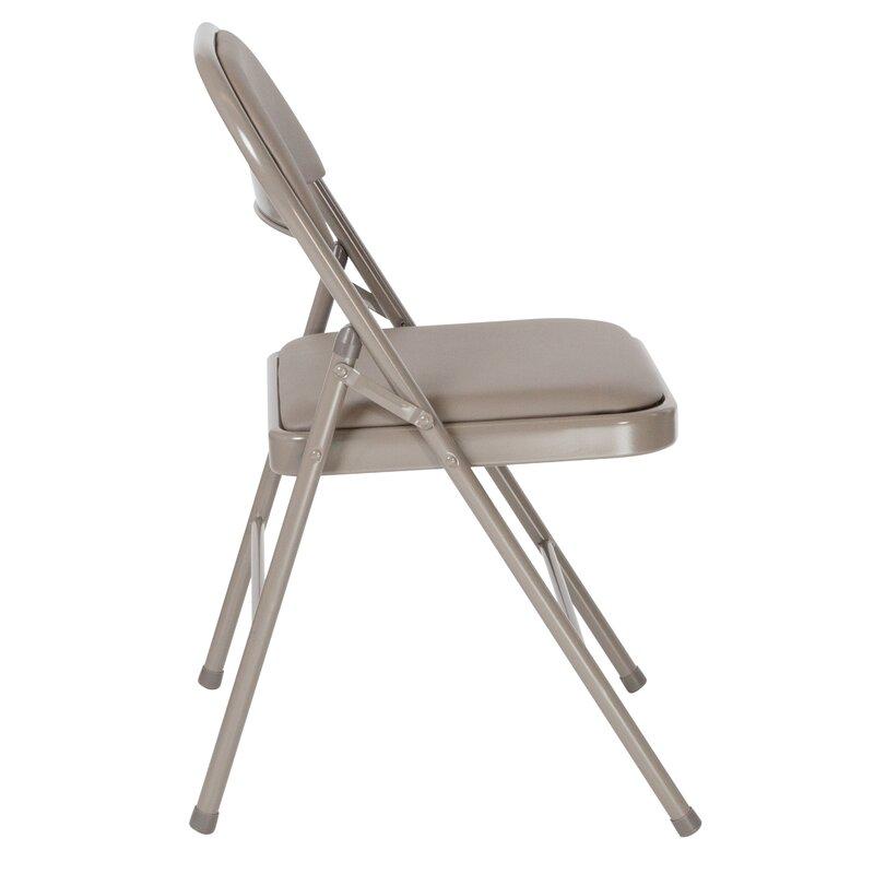 Symple Stuff Laduke Vinyl Padded Folding Chair Reviews Wayfair