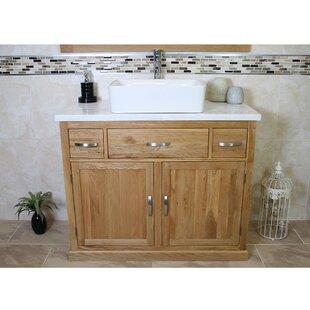 Desmond Solid Oak 1000mm Free-Standing Vanity Unit By Belfry Bathroom