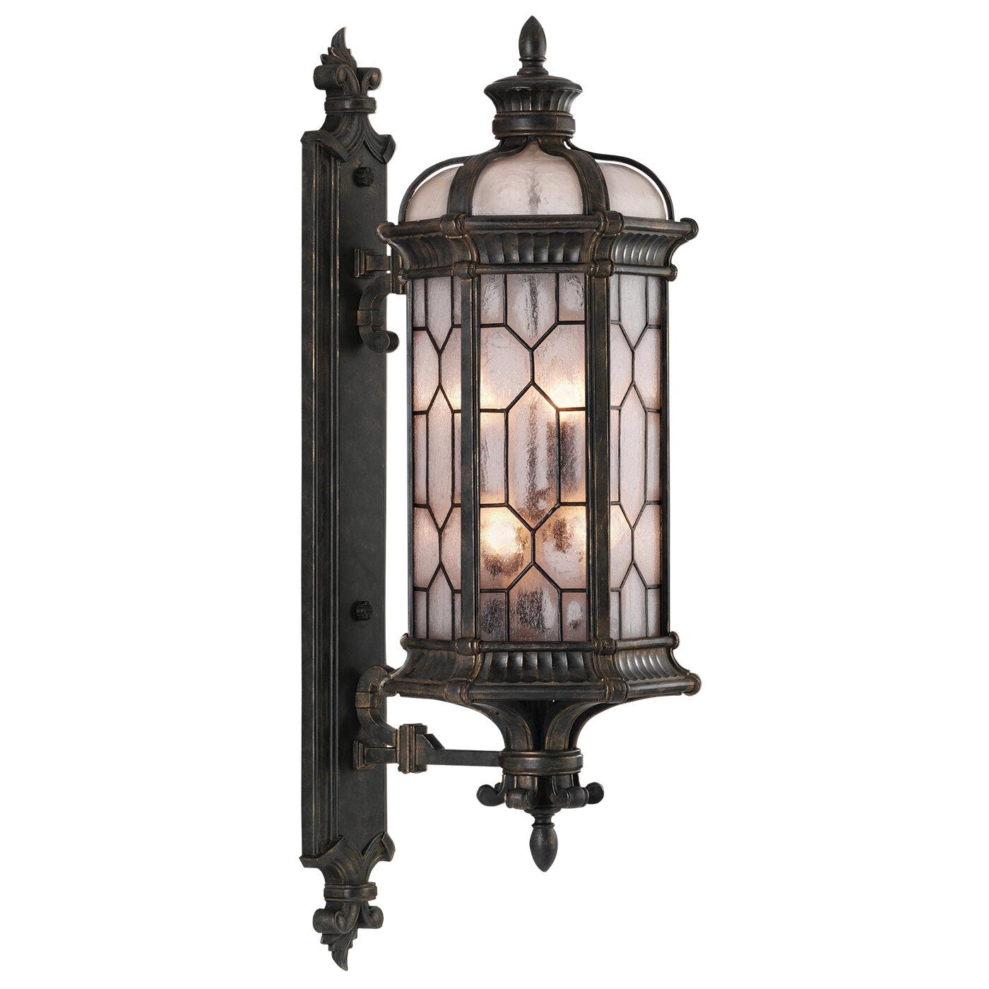 Fine Art Lamps Devonshire Bronze 6 Bulb 44 H Outdoor Wall Lantern Perigold