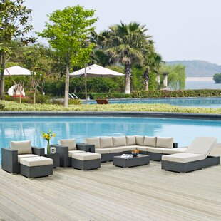 Tripp 12 Piece Sunbrella Sectional Set with Cushions by Brayden Studio