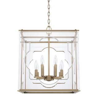 Wiebe 8 Light Square Rectangle Chandelier