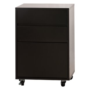Newlon 3 Drawer Mobile Vertical Filing Cabinet