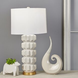 Jacey Ceramic Stacked 29 Table Lamp