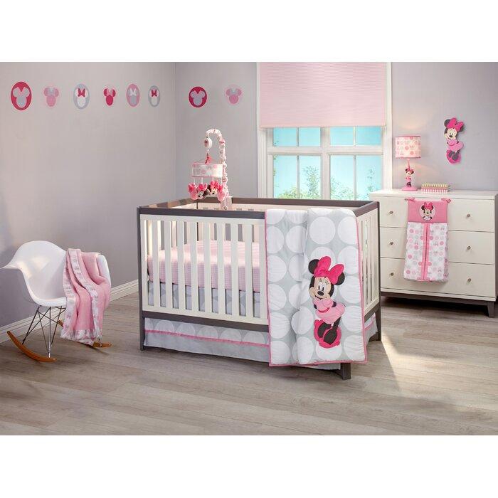 Disney Minnie Mouse 4 Piece Crib Bedding Set