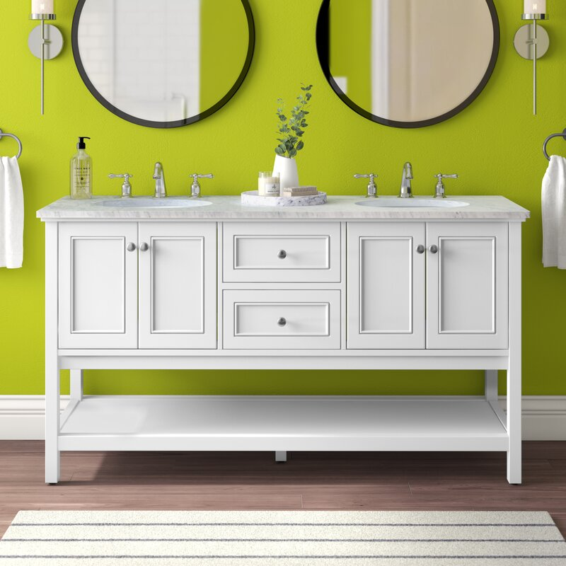 Charlton Home Waite 60 Double Bathroom Vanity Set Reviews Wayfair