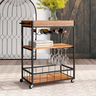 Castellon Rustic Industrial Bar Cart by Gracie Oaks