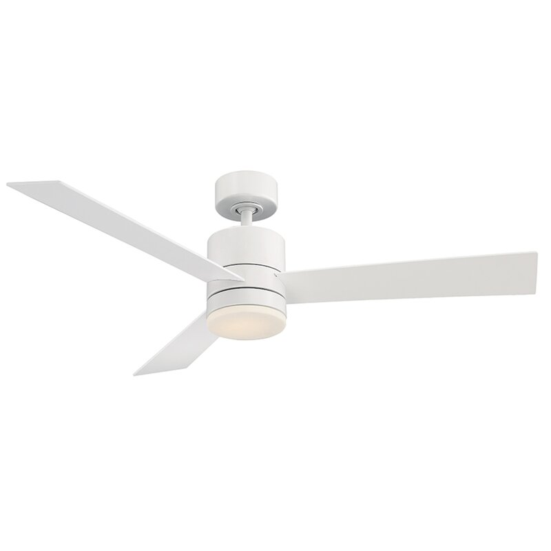 Modern Forms 52 Axis 3 Blade Outdoor Led Smart Standard Ceiling Fan With Wall Control And Light Kit Included Reviews Wayfair