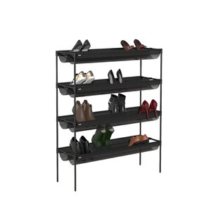 Sling 18 Pair Stackable Shoe Rack