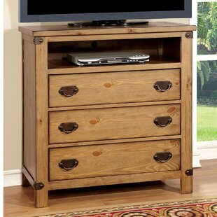 Shabby Chic Vintage Chest Rustic Dresser VMW714 3 Drawer Media Chest Reclaimed Salvaged Solid Wood