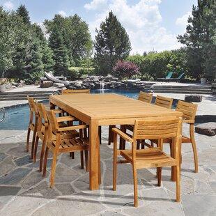 Rosecliff Heights Bridgepointe 9 Piece Teak Dining Set