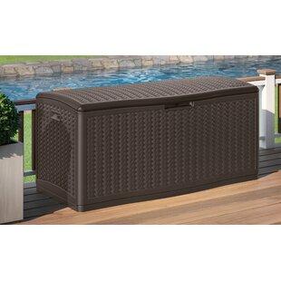 Blow Molded Herringbone 124 Gallon Resin Deck Box by Suncast