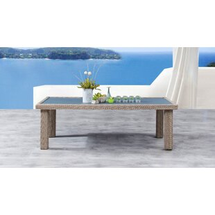 Searle Glass Dining Table by Ivy Bronx