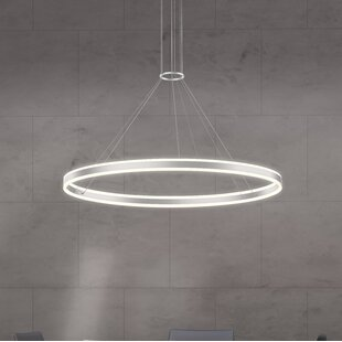 Double Corona 2-Light LED Geometric Chandelier by Sonneman
