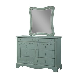 Asbury 8 Drawer Double Dresser with Mirror